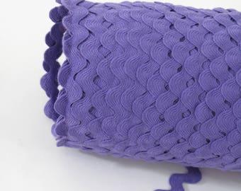 """Garniture de couture du croquet, violet Ric Rac, garniture Serpentine, 11/16"""" de large, 18 mm de large, 3 yards,"""