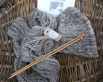 Knitting Kit Knit your own Beanie with handspun wool