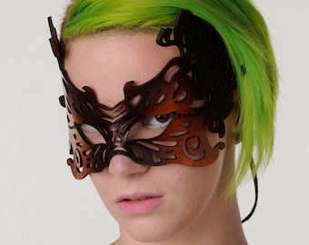 Leather lace  mask ....all others will envy you!