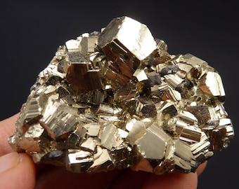 Pyrite   Pyrite Cluster   Pyrite Crystal   Fool's Gold   Fool's Gold Crystal   Dodecahedral Pyrite Crystal   Peru   95 grams