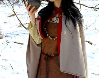 Viking cloak for woman, Valkyrie, medieval pattern, historical costume, historical cloak, coat for woman, viking woman, Scandinavia