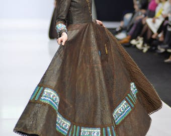 BROWN DRESS/designer dress/haute couture dress/haute couture/elegant dress/fashionable dress/dress for women/dress for girls/long dress