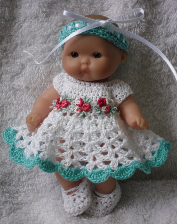 Crochet pattern for berenguer 5 inch baby doll dress set handmade crochet pattern for berenguer 5 inch baby doll dress set handmade from petitedolls on etsy studio dt1010fo