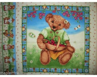 Fabric cotton pillows one vignette Teddy I