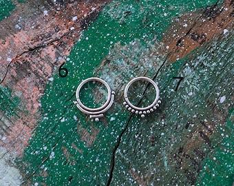 Silver Septum Ring / Septum Piercing en argent