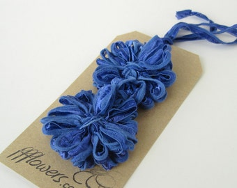 Flower Appliques in Periwinkle Blue Ribbon