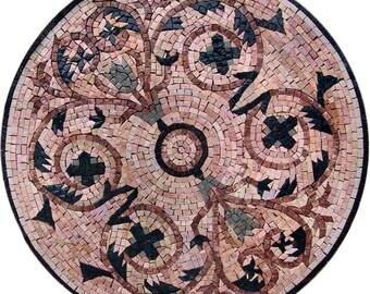 Round Mosaic Artwork - Visions of Spring