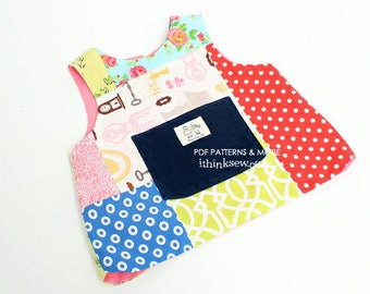 Emery Baby Bib Vest PDF Sewing Pattern (#75)