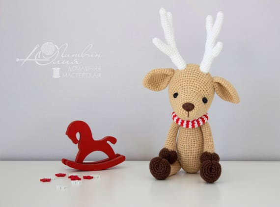 Amigurumi Christmas : Deer crochet deer amigurumi christmas toy baby gift christmas