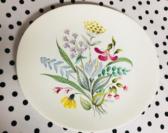 1950's Hallcraft Bouqut Plate by Eva Zeisel *free shippng