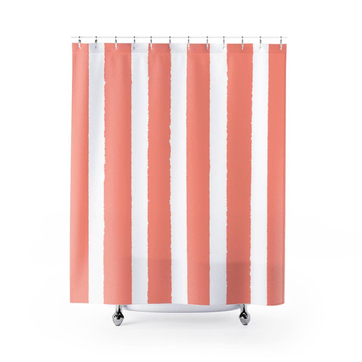 Description Peach Shower Curtain