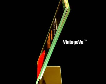 VintageVu™ Green Antique 2x6 Acrylic Photo Booth Frame, Made in USA
