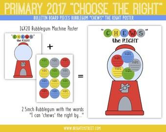 LDS Primary 2017 Choose the Right Bulletin Board Bubblegum Machine