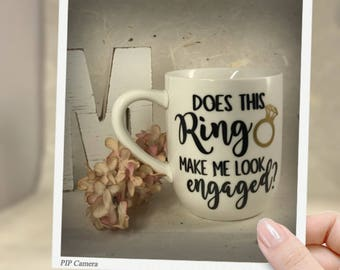 Does this Ring make me look Engaged, coffe cup, personlized