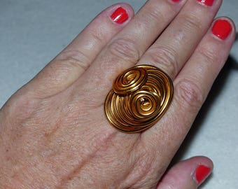 Golden aluminum ring size 18.5