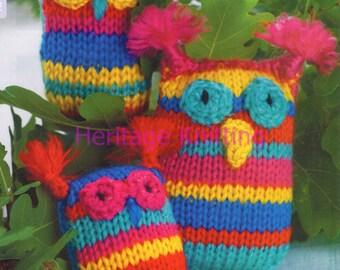owls toy dk knitting pattern 99p