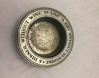Pewter Wine Bottle Coaster