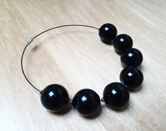 Blown Glass pearl necklace