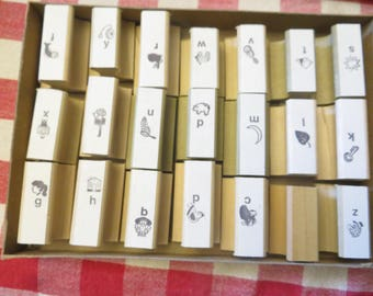 Box of rubber stamps w/ free ship