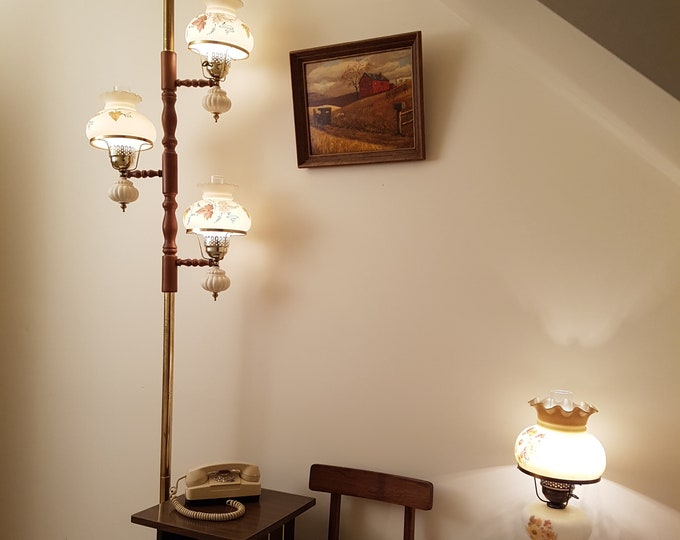 Midcentury Country Style Pole Lamp