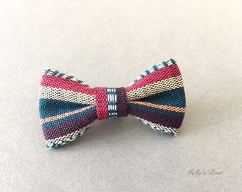 Mens Bow Tie Lapel Pin - Wedding Boutonniere - Buttonhole - Mini Bowtie Pin - Bohemian Style