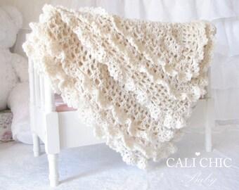 Crochet Blanket PATTERN 89 - Victorian Series - Crochet PATTERN 89 - Instant Download PDF