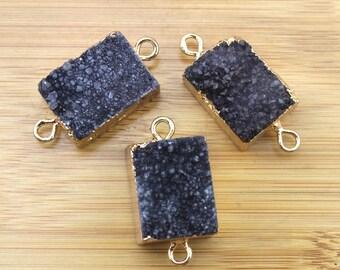 Hot sale Druzy Geode Slice Beads Pendants,Gray Drusy Agate Titanium Natural Stones Connectors Beading Necklace--Drusy Pendant-TR-034