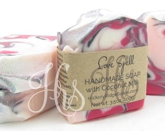 Love Spell Coconut Milk Soap - Homemade Soap, Handmade Soap, Cold Process Soap by Hickory Ridge Soap Co.