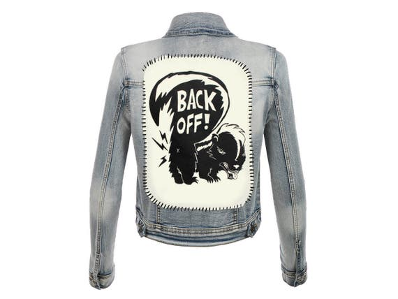 BACK OFF! Skunk with Attitude Back Patch