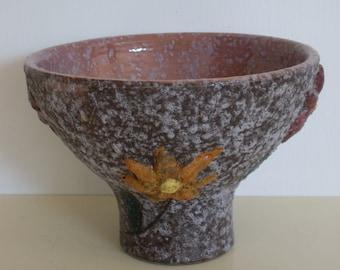 Italian Lava Glaze Bowl, Compote, Home decor, Table Decor,  Pootery