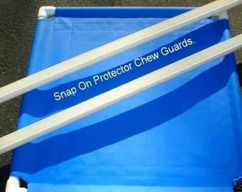 Dog Bed Cot Chew Proof Guards For 1 inch Pipe, Snaps On Dog Cot Bed, 6 Sizes For Small Cots, Dog Cot Not Included.