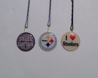 Beard Art Baubles Football Black and Gold Hipster Gift Set of 3 FTB Pittsburgh Steelers