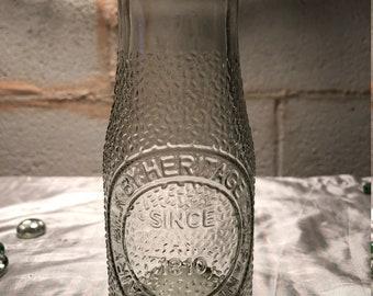 Half Pint Sized Retro-Style Glass Milk Bottle
