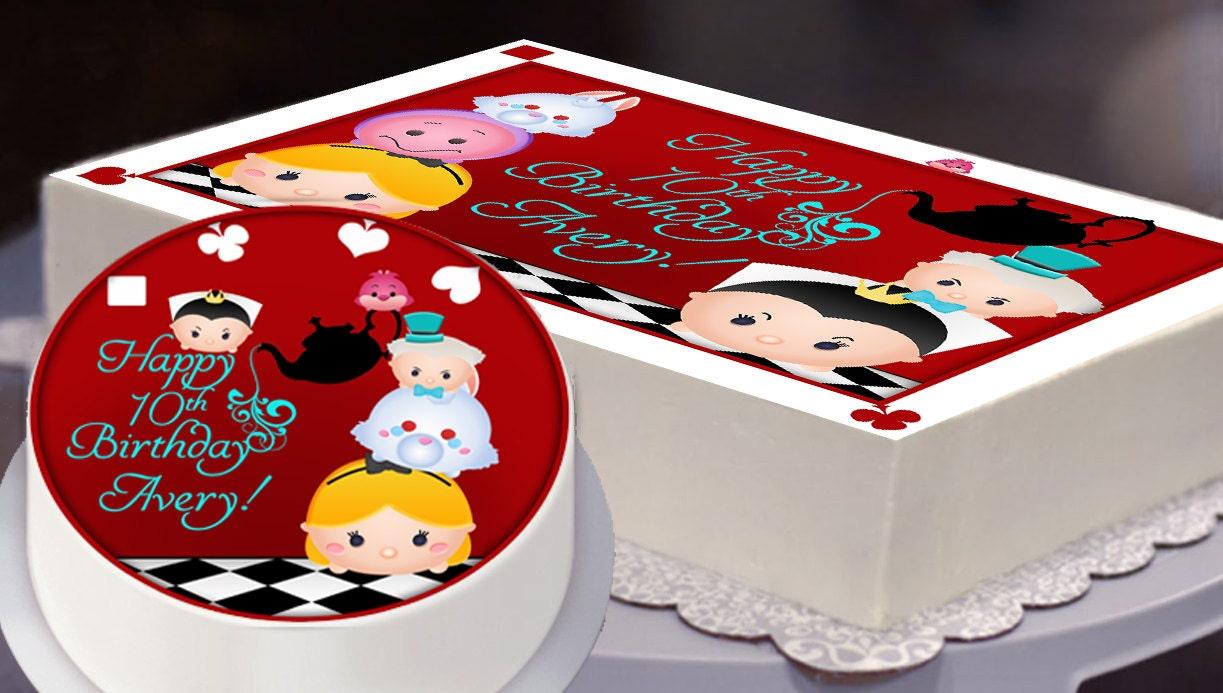 Edible Cake Topper Alice in Wonderland Tsum Tsum Party Tsum