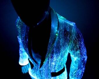 Light Up Clothing Prom Jacket Mens Blazer Burning Man Party EDM Clothes