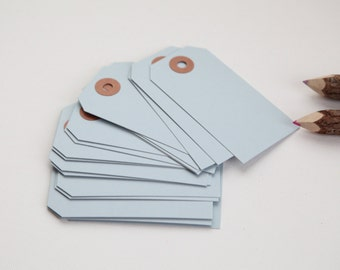 25 - LIGHT BLUE - MEDIUM Gift Tags, 3-3/4 x 1-7/8, Packing Tags, Shipping Tags, Holiday Tags, Favor Tags