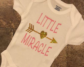 Little Miracle Baby Girl Shirt