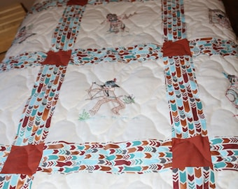 Native American, Southwest, Baby, Crib, Toddler, Lap Quilt, Wall hanging