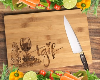 TGIF! - Personalised Engraved Bamboo Chopping Board