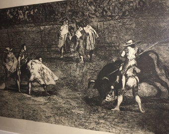 Francisco Goya y Lucientes - Etching from Tauromaquia Series (Bullfights)