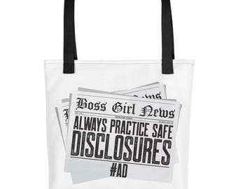 Always Practice Safe Disclosures #AD...Tote bag