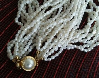 Freshwater Pearl Multi Strand Necklace