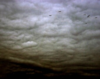 Storm clouds nature photography fine art photography dark art goth home decor