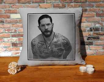 Tom Hardy Pillow Cushion - 16x16in - Grey