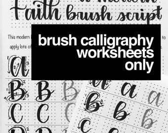 Brush Calligraphy Worksheets Only
