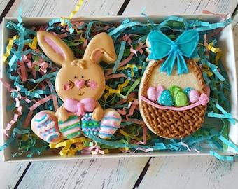 Bunny & Basket Sugar Cookie Gift Box