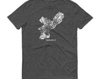 Philadelphia Shirt, Philadelphia PA, Philadelphia TShirt, Philadelphia Gift, Philadelphia Map, Philly Tee, Pennsylvania Shirt, Penn Map