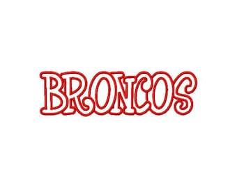 Instant Download Broncos Embroidery Machine Applique Design-954