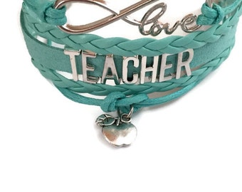 TEACHER gift, Gifts for Teacher,Thank you Gift Teacher,teacher bracelets, Teacher jewelry,Graduation Teacher Gifts,Teacher Appreciation Week