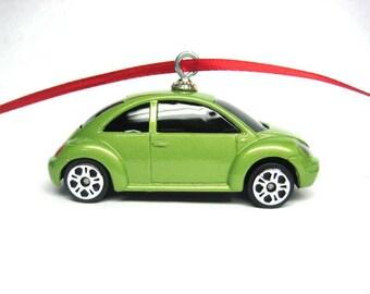 2000 98 99 00 01 02 03 04 05 06 07 08 VW Volkswagen Beetle Bug Car Hot Wheels Ornament